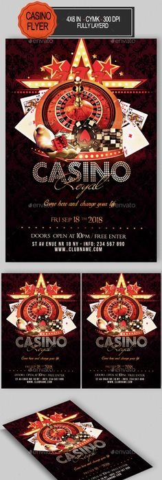 Casino Flyer Bundle Club Parties And Game Ui