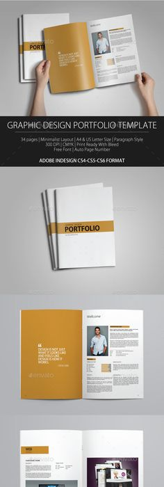 Indesign Portfolio Brochure Vol By Tujuhbenua On - Portfolio brochure template