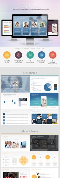 Clean powerpoint template powerpoint presentations pinterest toneelgroepblik Image collections