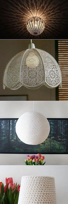 Crochet En Acción Idea para renovar lámparas Lámparas Pinterest