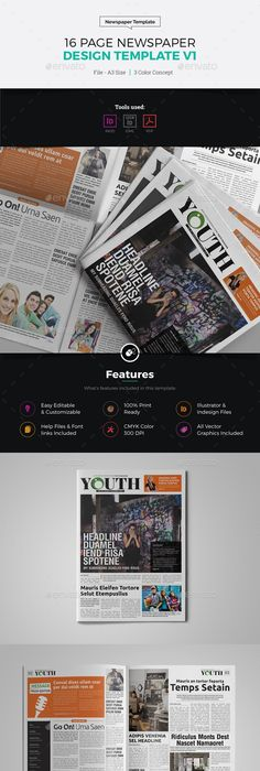 Youth   Page Newspaper Indesign Template  Template