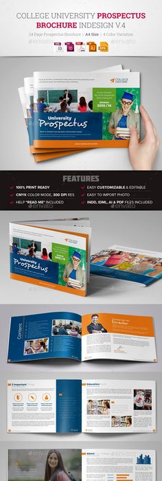College University Prospectus Magazine  College Template And