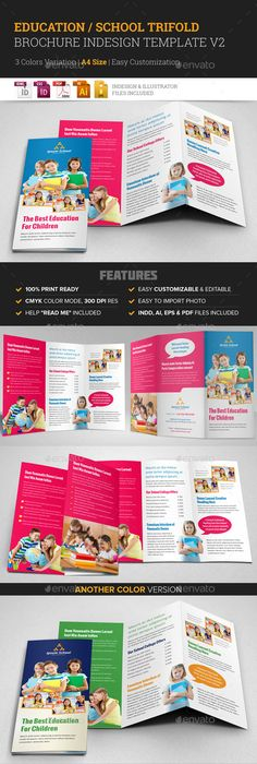 Preschool Education Tri Fold Brochure Template HttpWwwDlayouts