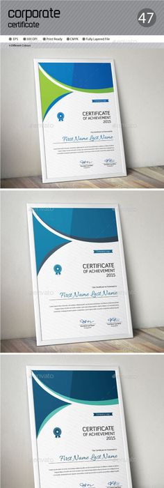 Word docx certificate template Certificate, Template and