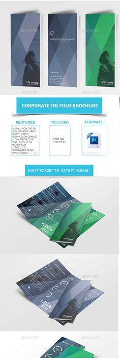 College  University Tri Fold Brochure Template  School