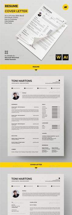 Resume By Machruzah Resume U2013 Cover Letter Product Mm X 297 Mm) (ISO  International) Size With Bleed Mm X 303 Mm) Inch X 11 In