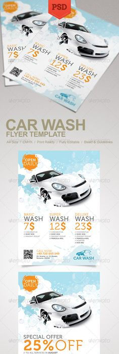 Car Wash Flyer Template  Flyer Design Templates Car Wash And Flyer