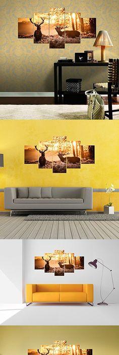 Attractive Horizontal Canvas Wall Art Model - Wall Art Design ...
