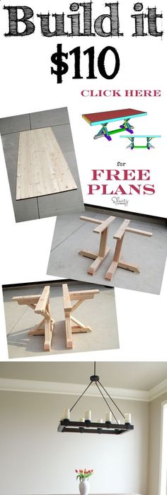 DIY Farmhouse Table with 2 style options for legs! Woodworking - fresh blueprint for building a bench