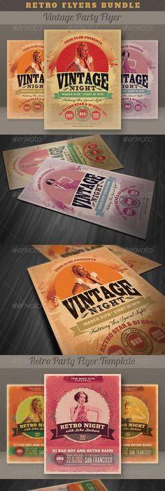Vintage Retro Flyer Indie Rock Poster Template Free Club Party Psd