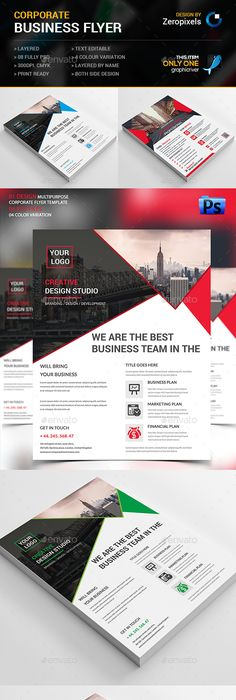 Corporate Flyer Template PSD. Download here: http://graphicriver.net ...