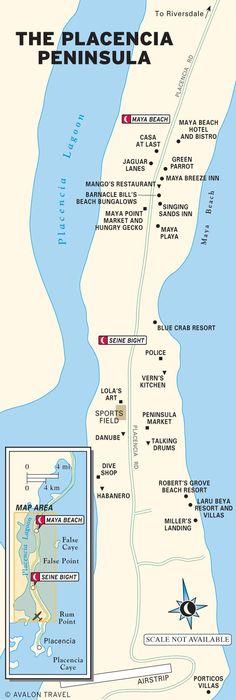 Map of Belize San Pedro Scoop Belize Pinterest Belize