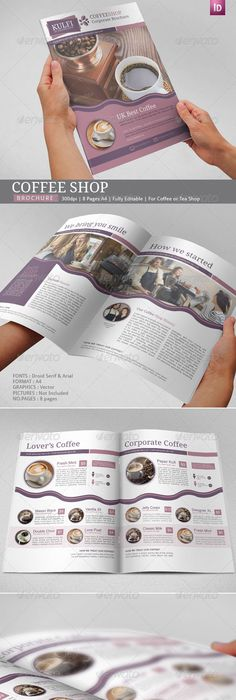 Coffee Brochure Template TriFold  Tri Fold Brochure Template