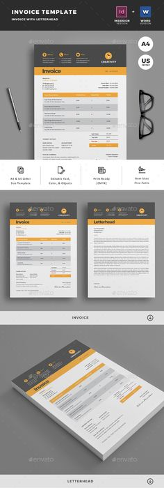 Invoice Page Entrancing Invoice  Template Font Logo And Corporate Identity