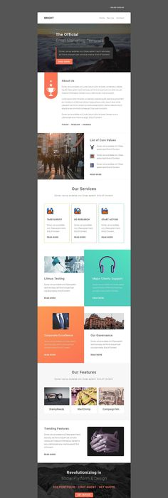 Corpo  Responsive Email Template  Email Template Design