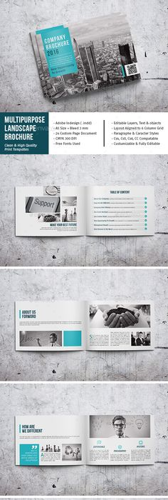 Our Portfolio Architecture 24 Pages A4 & A5 Template InDesign INDD ...