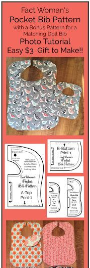 Free printable bib pattern and step by step tutorial make the inexpensive baby gift pocket bib pattern and tutorial to sew for an infant or toddler negle Gallery