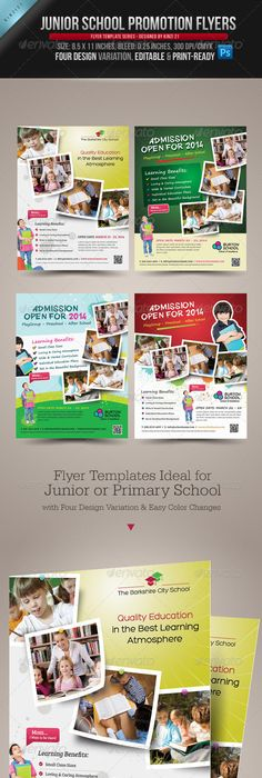 Kindergarten Junior School Flyer  Photoshop Psd Admission