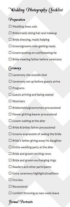 Short List Guide Your MustHave Wedding Photos  Shot List