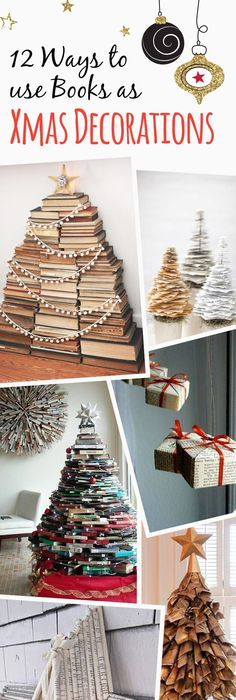 12 Charming Ways To Use Books As Christmas Decorations