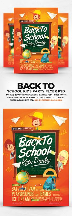 Back To School Flyer  Flyer Template Template And School