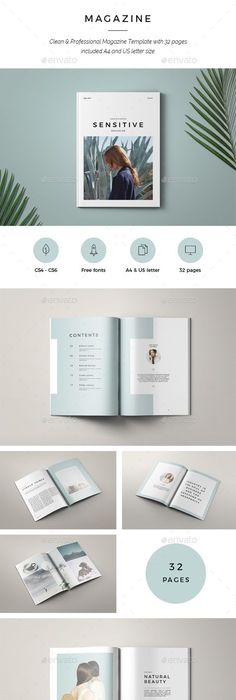 Lookbook Template Layouts, Editorial and Brochures