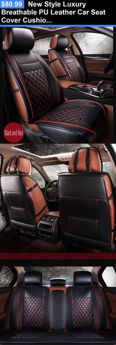Luxury Cars New Style Breathable Pu Leather Car Seat Cover Cushion Pad Black Red