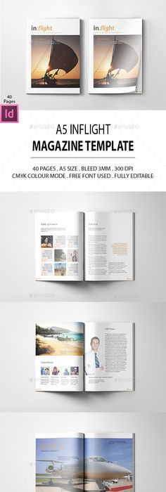 A4 Magazine Template Vol29 Template, Magazines and Print templates