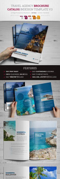 Travel And Tourism Brochure  Caribbean Beach  Edit Text