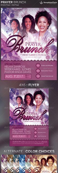 woman u2019s prayer breakfast flyer template