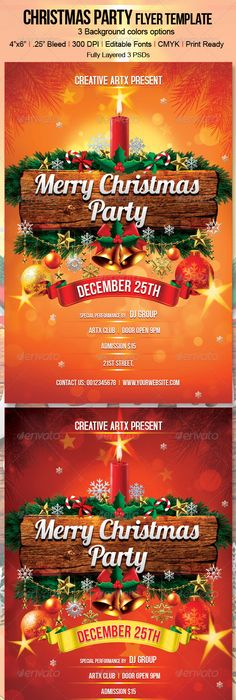 Christmas Brochure Templates Free  Top  Christmas Party Flyer