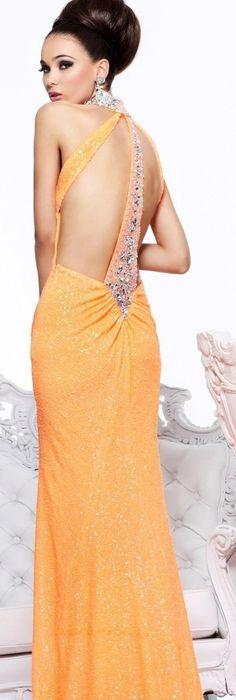 SHERRI HILL - Authentic Designer - Stunning Strawberry Gown ...