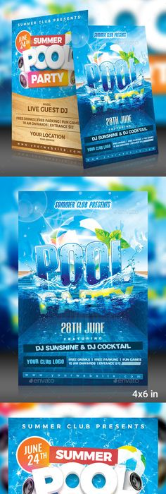 Best Summer Pool Party Flyer Print Templates   Flyer