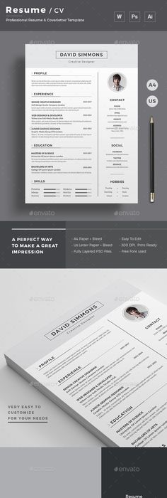 Templates For Resumes Word Endearing Resume  Template Cv Template And Resume Cv