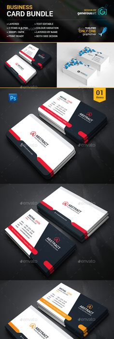 Creative business card bundle business cards business and creative reheart Images