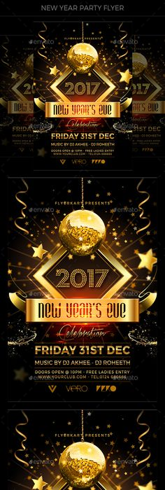 New Years Eve Flyer Flyer template, Party flyer and Template - new years party flyer