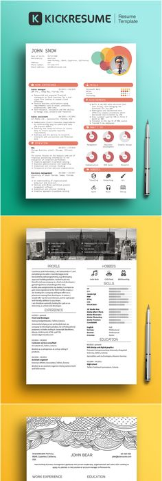 Resume  Cv  Cover Letter Set  By BoxedcreativeDeviantartCom