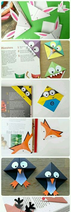 Simple Origami Corner Bookmark O Ok Wheres My Paper