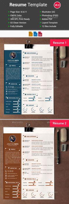 Personal Resume Template Design Design resume, Template and Resume cv - awesome resume templates