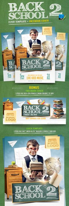 Back To School  Flyer Template Psd  Flyer Template Template And