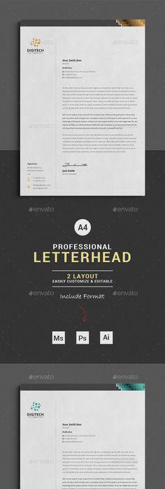 Business Letterhead Designs  Custom Company Letterheads Usa