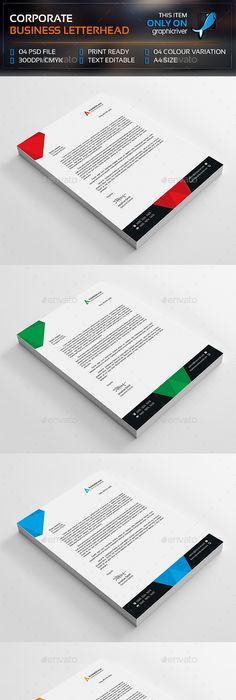 Company Letterhead Business Corporate Letter Head Format