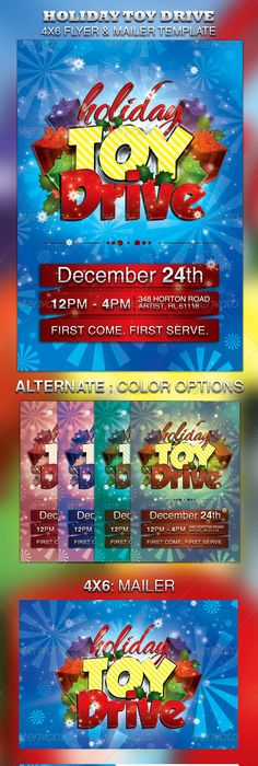 Download This Free Christmas Toy Drive Flyer Template For