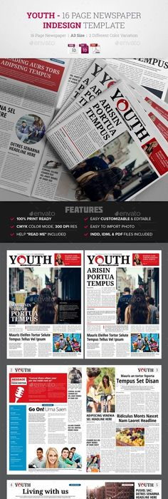 24 Pages Newspaper Print Templates Newspaper And Template