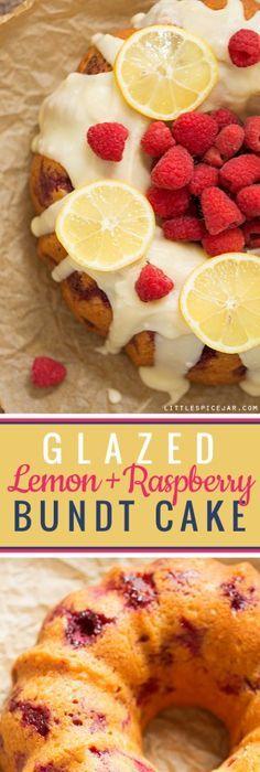 Http Littlespicejar Com Glazed Lemon Raspberry Bundt Cake