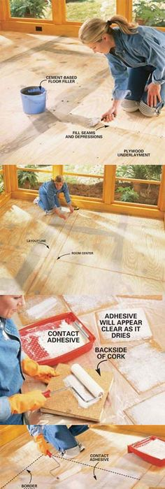 How to install cork tile flooring cork tiles cork and house how to install cork tile flooring solutioingenieria Image collections