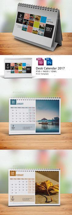 Desk Calendar 2018 Calendar 2018 Desk Calendars And Ai Illustrator