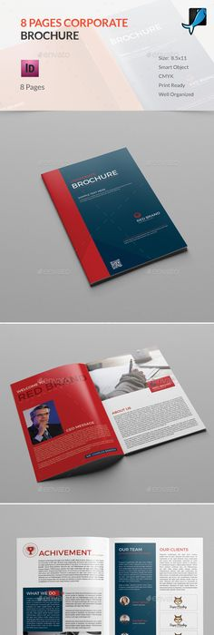 A Corporate Company Brochure  Brochures A And Brochure Template
