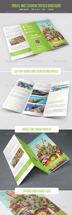 Brochure  Travel Agency TriFold  Tri Fold Brochures And Tri