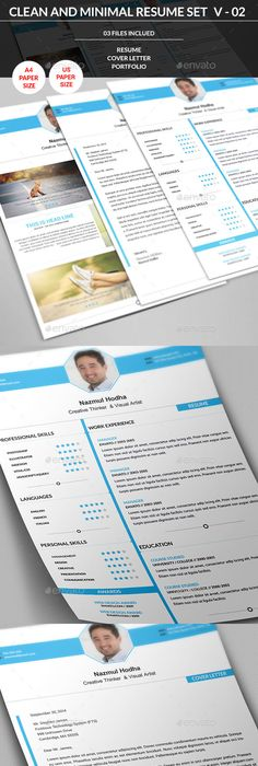 Creative Resume Creative, Graphics and Cv resume template